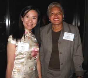 Lubing Zhang and Vanessa Smith, UTC Associate Director for Business and Finance.