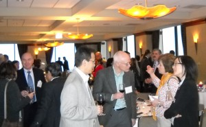 Guests at the pre-dinner reception.